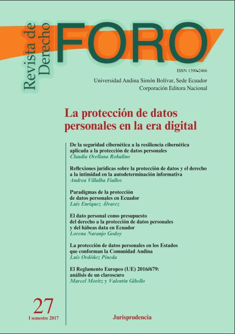 Num 27 2017 Revista De Derecho Foro La Proteccion De Datos Personales En La Era Digital Foro Revista De Derecho
